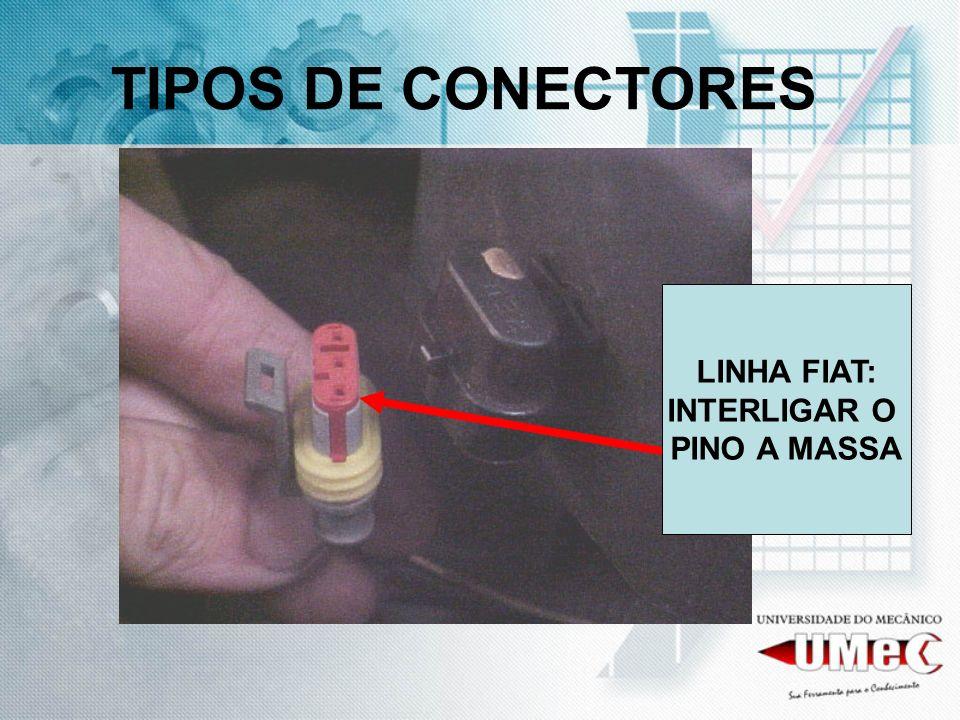 TIPOS DE CONECTORES LINHA FIAT: INTERLIGAR O PINO A MASSA