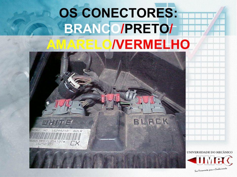 OS CONECTORES: BRANCO/PRETO/ AMARELO/VERMELHO