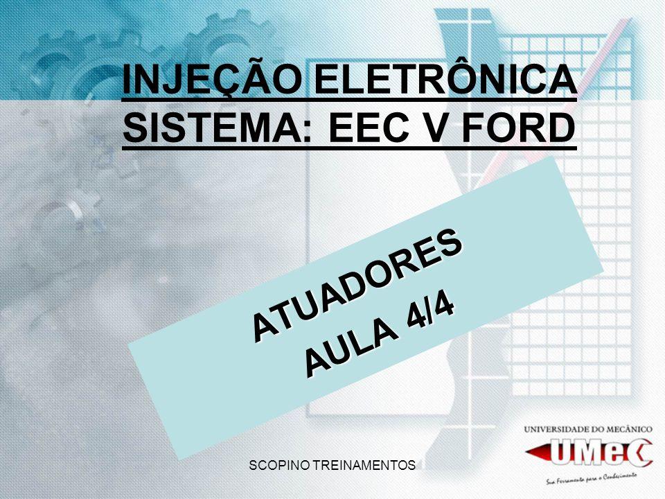 SCOPINO TREINAMENTOS INJEÇÃO ELETRÔNICA SISTEMA: EEC V FORD ATUADORES AULA 4/4