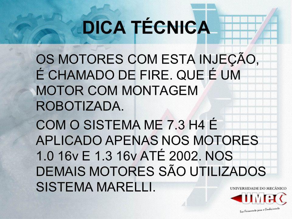 DICA TÉCNICA OS MOTORES COM ESTA INJEÇÃO, É CHAMADO DE FIRE.