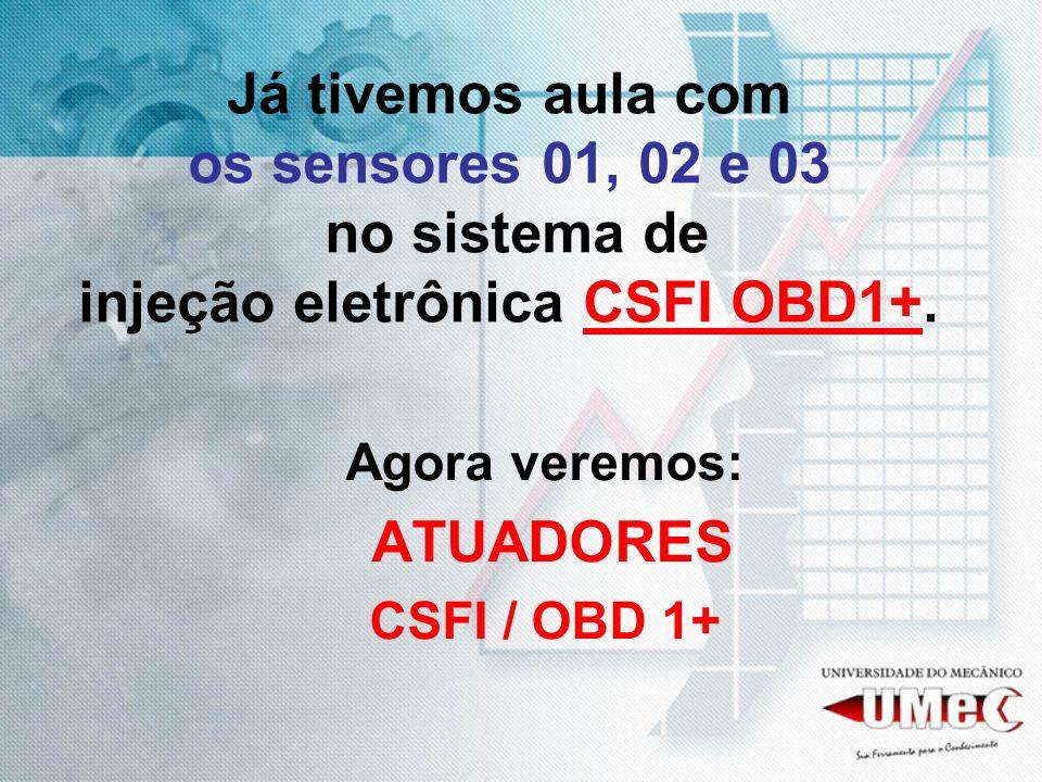 DIAGRAMAÇÃO E C U CSFI OBD 1+ TEMP.ÁGUA TEMP.