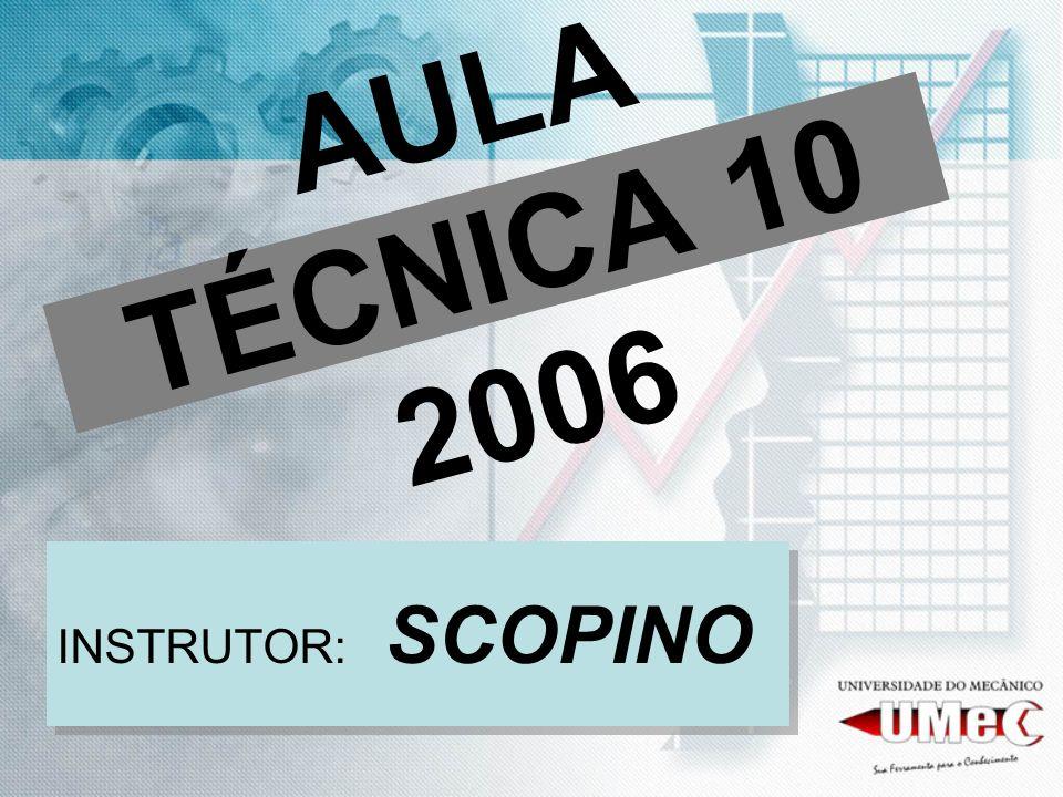 AULA TÉCNICA 10 2006 INSTRUTOR: SCOPINO