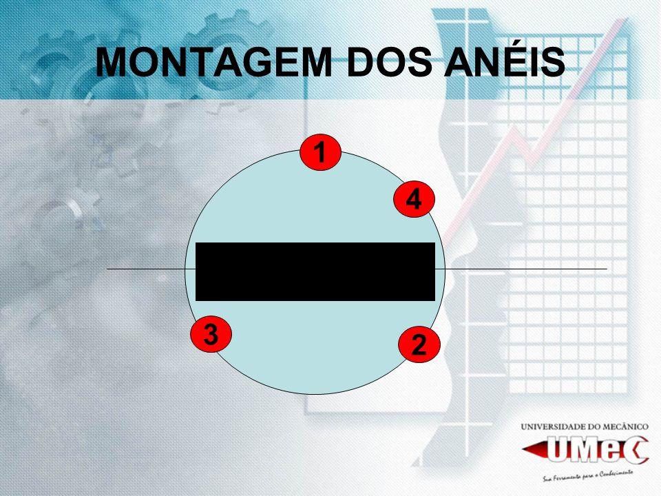 MONTAGEM DOS ANÉIS 1 3 2 4