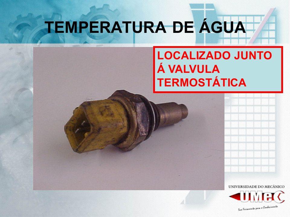 TEMPERATURA DE ÁGUA LOCALIZADO JUNTO Á VALVULA TERMOSTÁTICA