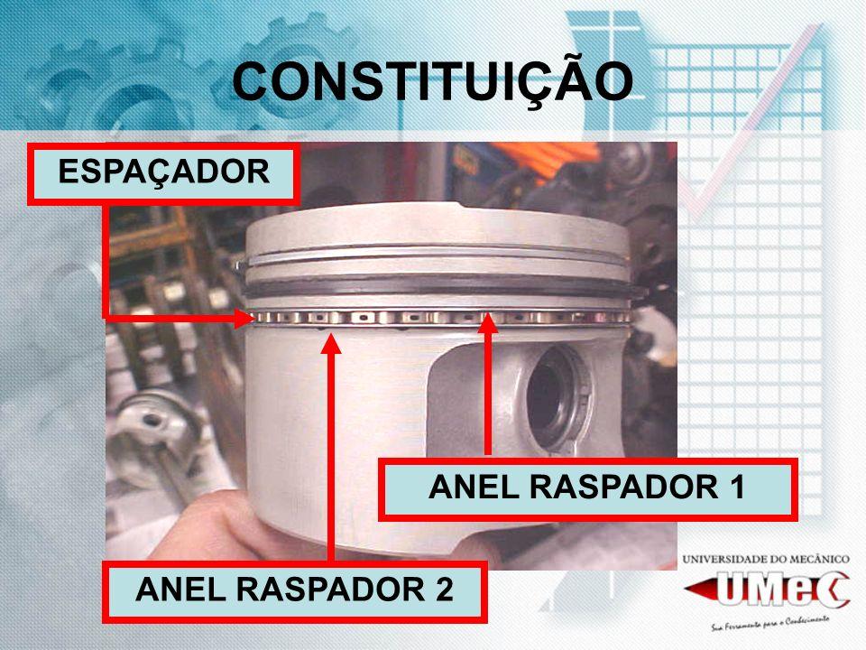 CONSTITUIÇÃO ANEL RASPADOR 1 ANEL RASPADOR 2 ESPAÇADOR