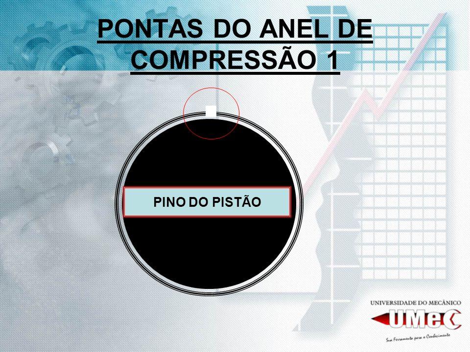 PONTAS DO ANEL DE COMPRESSÃO 1 PINO DO PISTÃO