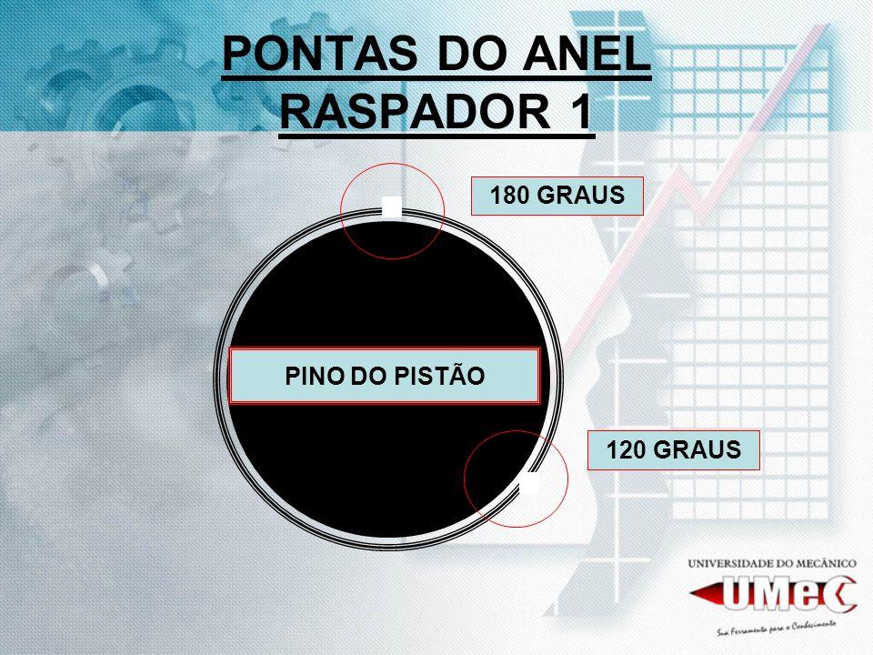 PONTAS DO ANEL RASPADOR 1 PINO DO PISTÃO 120 GRAUS 180 GRAUS