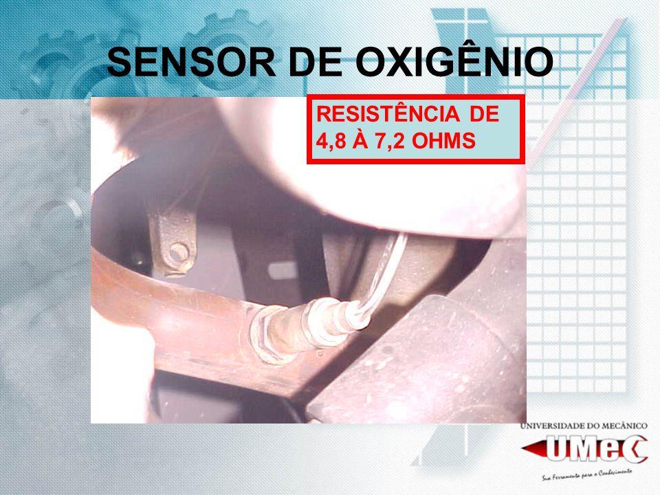 SENSOR DE OXIGÊNIO RESISTÊNCIA DE 4,8 À 7,2 OHMS