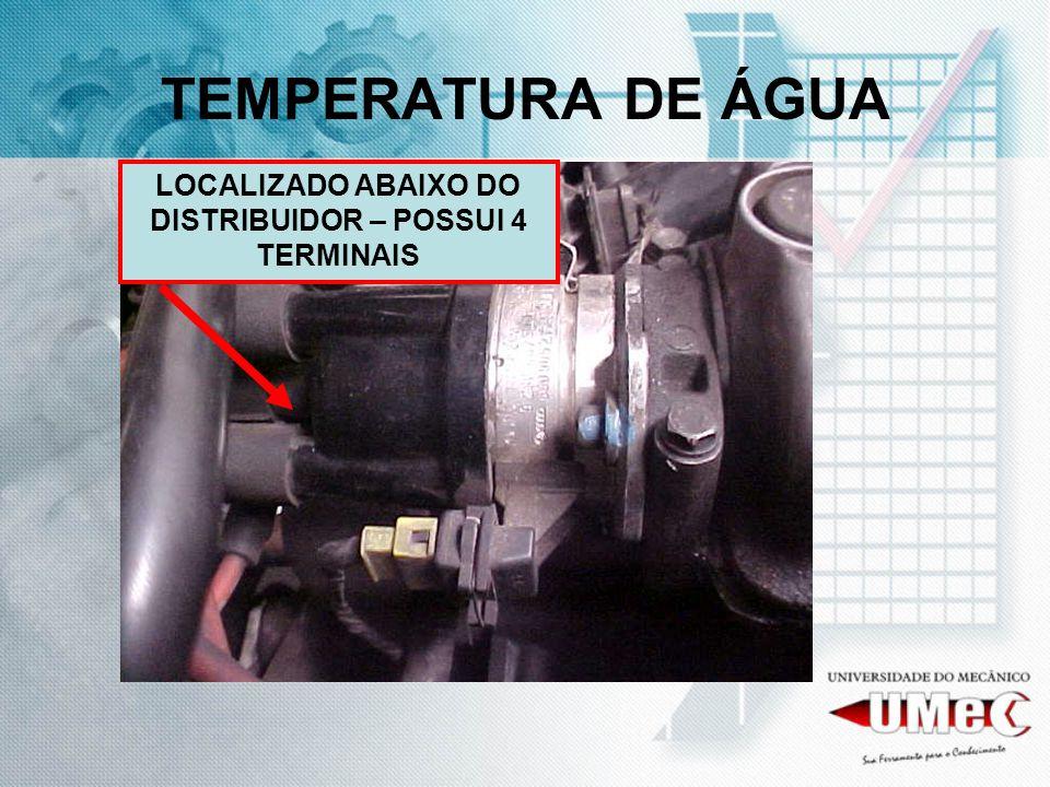 TEMPERATURA DE ÁGUA LOCALIZADO ABAIXO DO DISTRIBUIDOR – POSSUI 4 TERMINAIS