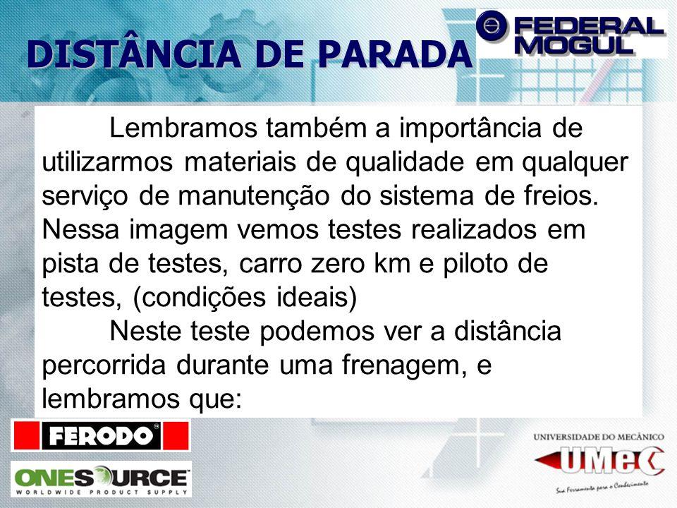 PASTILHAS DE FREIO POR QUE ESCOLHER PASTILHAS DE FREIO FEDERAL-MOGUL .