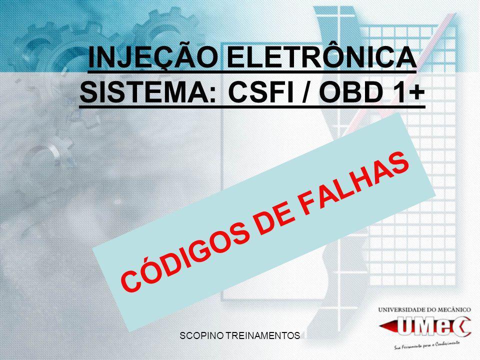 SCOPINO TREINAMENTOS INJEÇÃO ELETRÔNICA SISTEMA: CSFI / OBD 1+ CÓDIGOS DE FALHAS