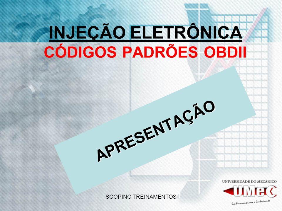 SCOPINO TREINAMENTOS INJEÇÃO ELETRÔNICA CÓDIGOS PADRÕES OBDII APRESENTAÇÃO