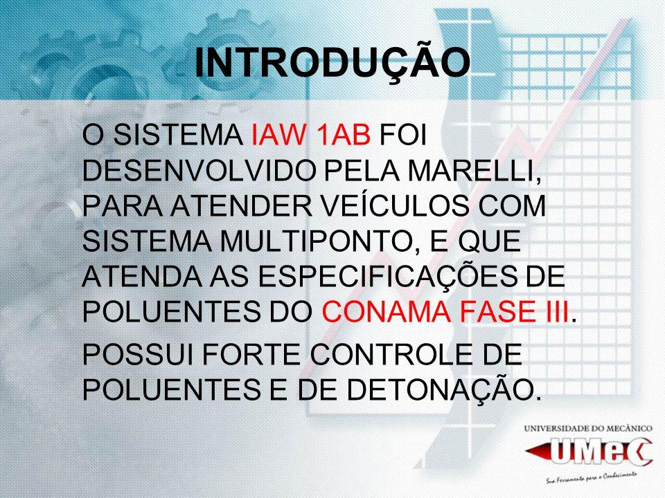 O SISTEMA 1AB, TEM CONTROLE DIGITAL DA INJEÇÃO SEQUÊNCIAL DA GASOLINA E UM CONTROLE INDIVIDUAL DE AVANÇO DOS CILINDROS.