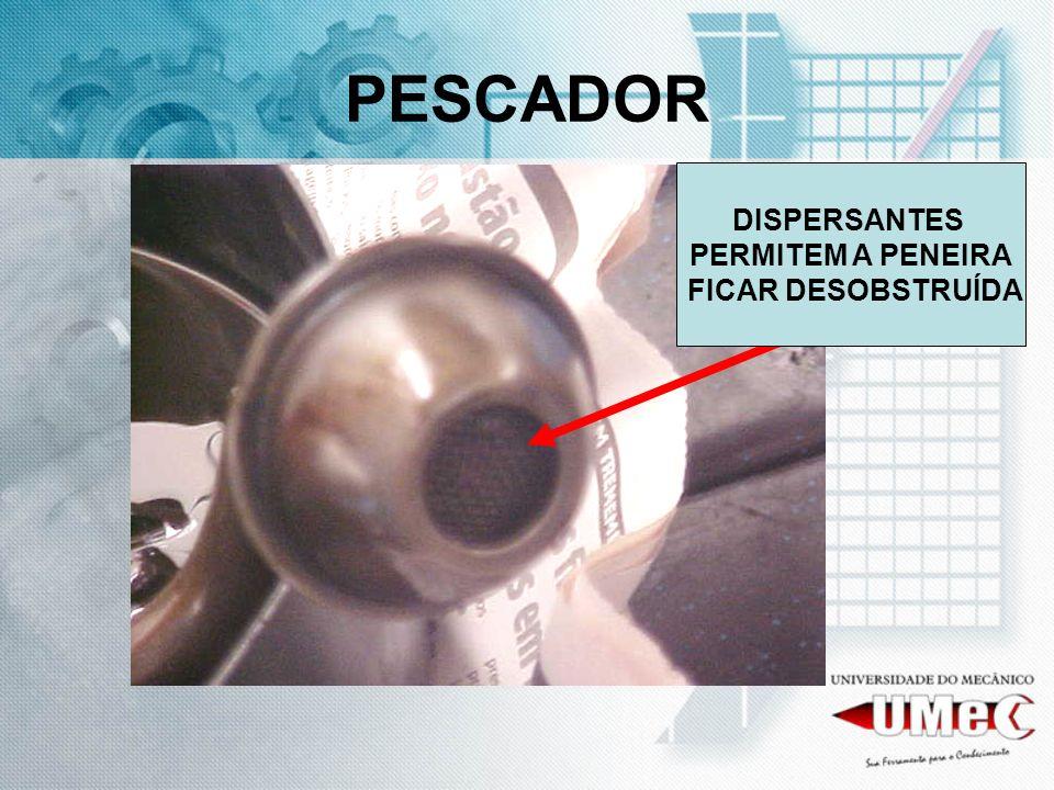 PESCADOR DISPERSANTES PERMITEM A PENEIRA FICAR DESOBSTRUÍDA
