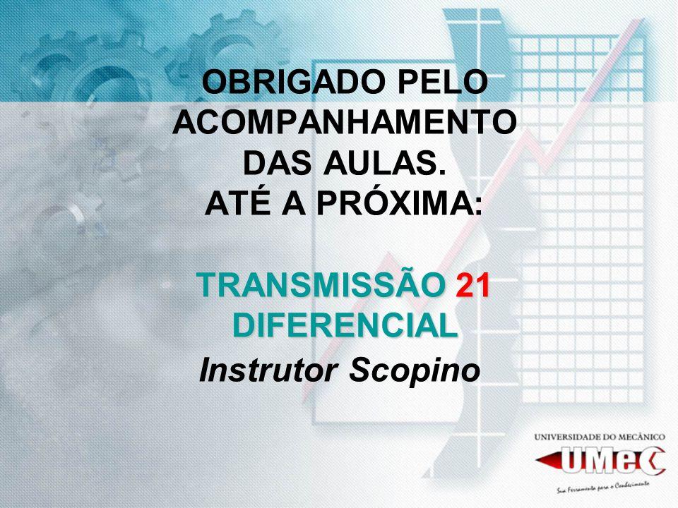 TRANSMISSÃO 21 DIFERENCIAL OBRIGADO PELO ACOMPANHAMENTO DAS AULAS. ATÉ A PRÓXIMA: TRANSMISSÃO 21 DIFERENCIAL Instrutor Scopino
