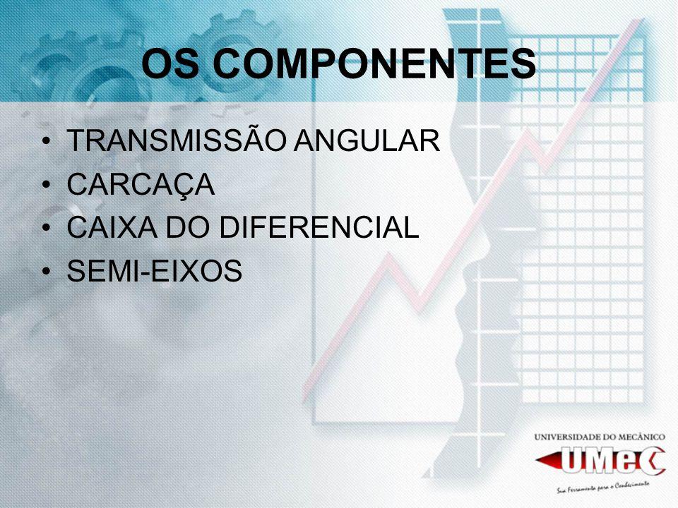 OS COMPONENTES TRANSMISSÃO ANGULAR CARCAÇA CAIXA DO DIFERENCIAL SEMI-EIXOS