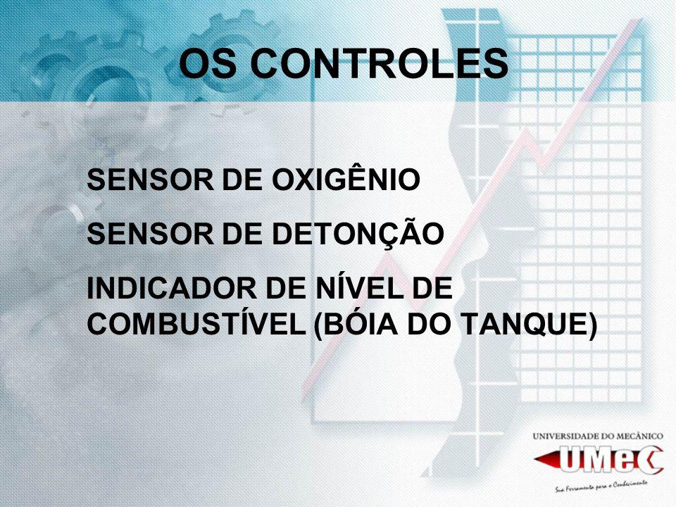 OS CONTROLES SENSOR DE OXIGÊNIO SENSOR DE DETONÇÃO INDICADOR DE NÍVEL DE COMBUSTÍVEL (BÓIA DO TANQUE)