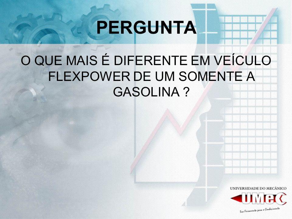 PERGUNTA O QUE MAIS É DIFERENTE EM VEÍCULO FLEXPOWER DE UM SOMENTE A GASOLINA ?