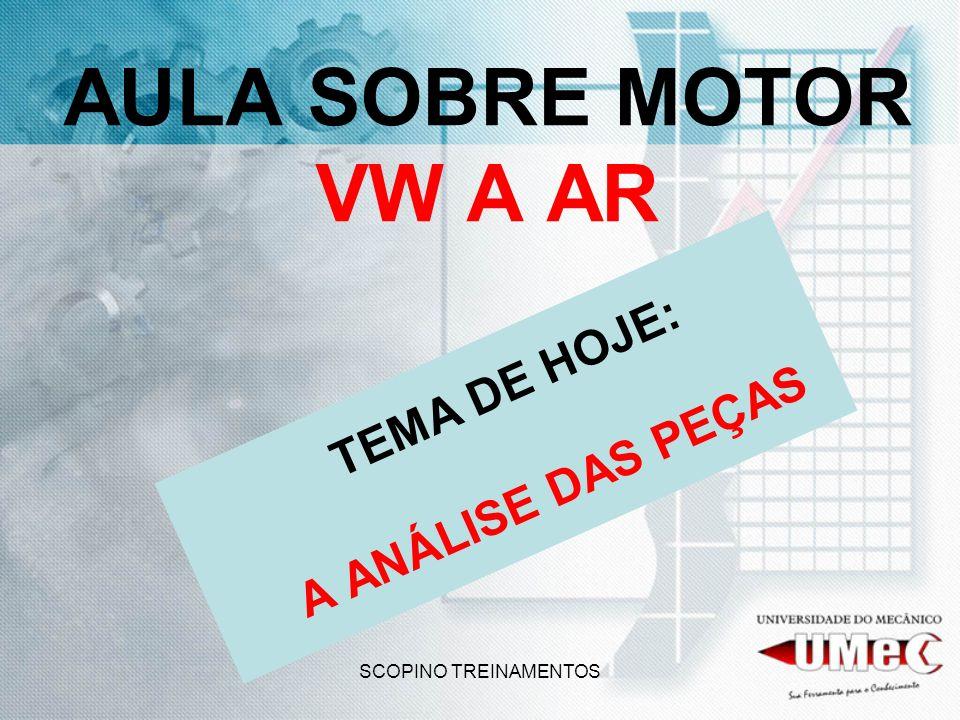 SCOPINO TREINAMENTOS AULA SOBRE MOTOR VW A AR TEMA DE HOJE: A ANÁLISE DAS PEÇAS