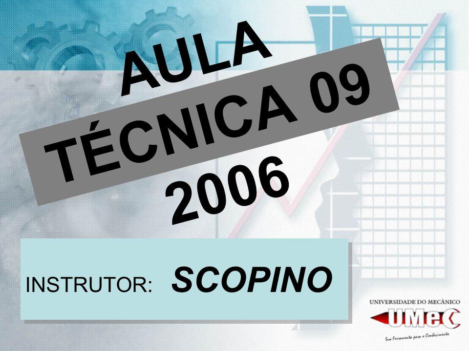 AULA TÉCNICA 09 2006 INSTRUTOR: SCOPINO