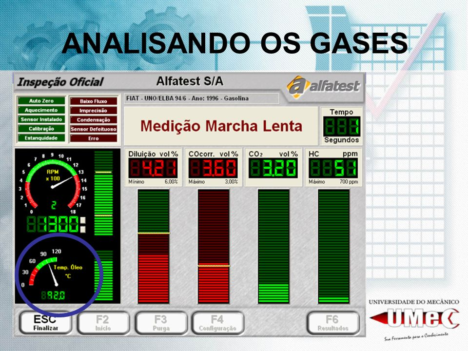 ANALISANDO OS GASES