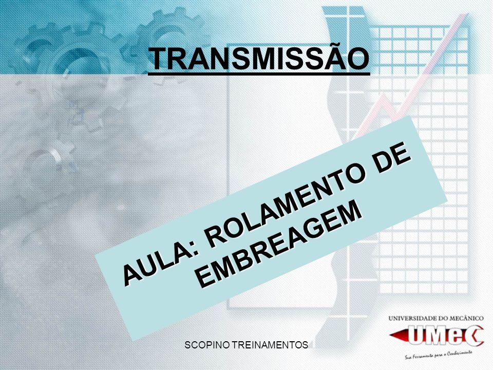 SCOPINO TREINAMENTOS TRANSMISSÃO AULA: ROLAMENTO DE EMBREAGEM