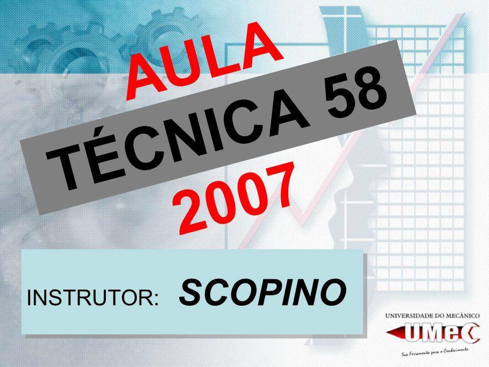 AULA TÉCNICA 58 2007 INSTRUTOR: SCOPINO