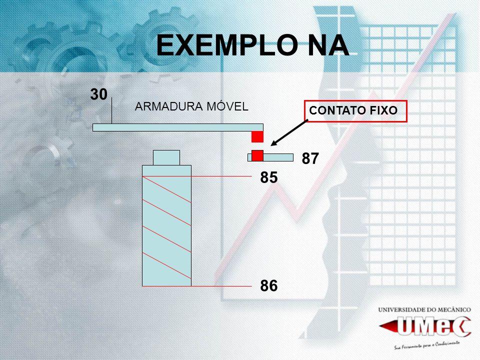 EXEMPLO NA 85 86 30 87 ARMADURA MÓVEL CONTATO FIXO
