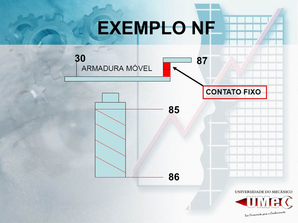 EXEMPLO NF 85 86 30 87 ARMADURA MÓVEL CONTATO FIXO