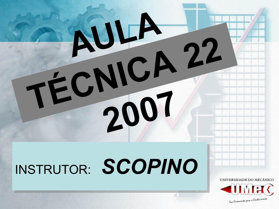 AULA TÉCNICA 22 2007 INSTRUTOR: SCOPINO