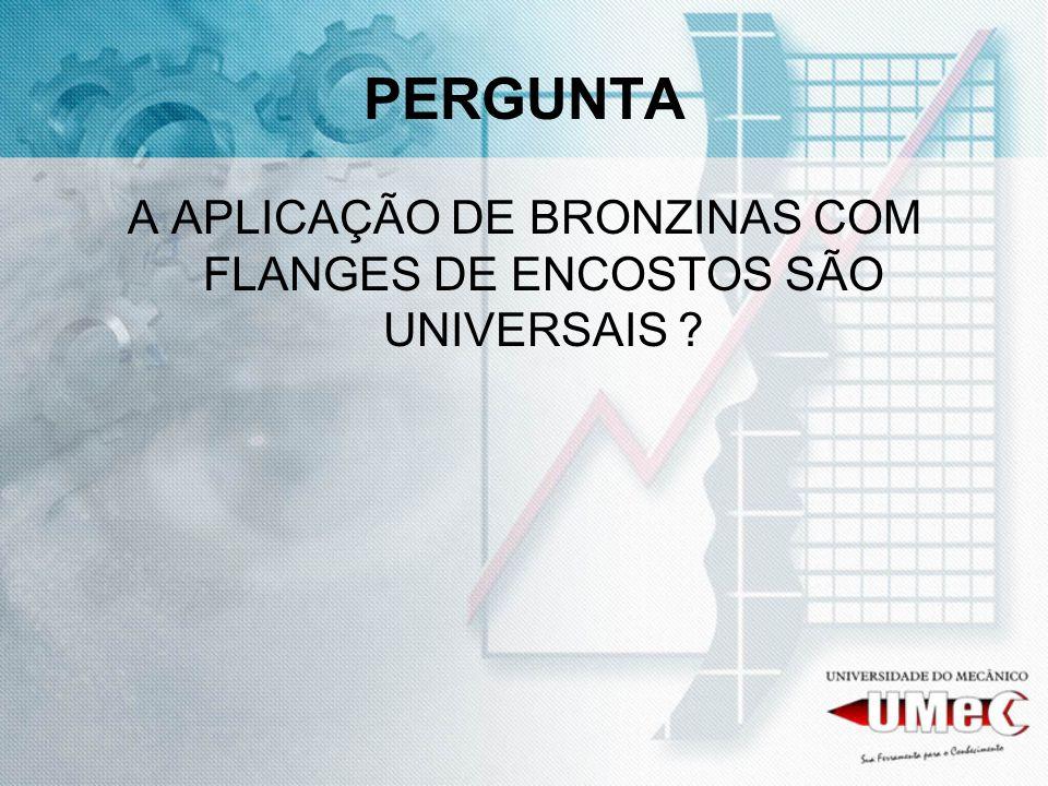 PERGUNTA A APLICAÇÃO DE BRONZINAS COM FLANGES DE ENCOSTOS SÃO UNIVERSAIS ?