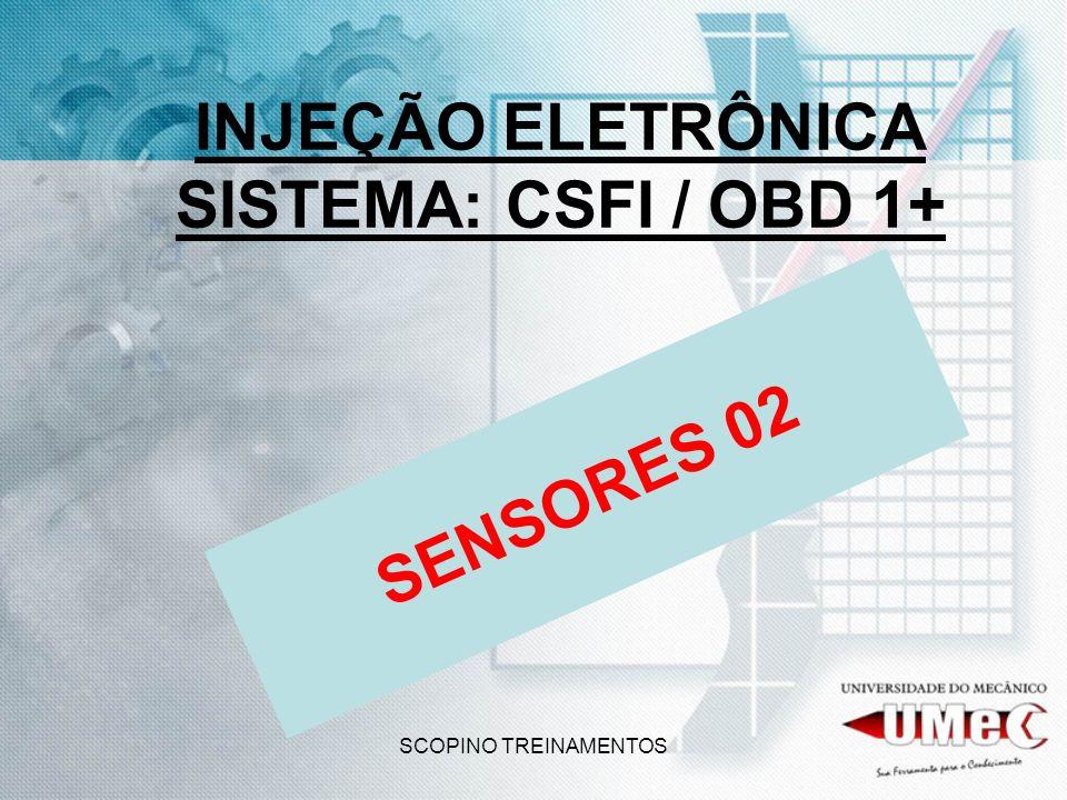 SCOPINO TREINAMENTOS INJEÇÃO ELETRÔNICA SISTEMA: CSFI / OBD 1+ SENSORES 02