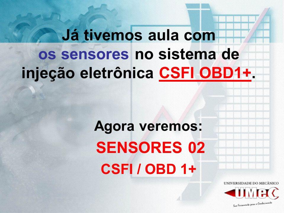 Já tivemos aula com os sensores no sistema de injeção eletrônica CSFI OBD1+. Agora veremos: SENSORES 02 CSFI / OBD 1+