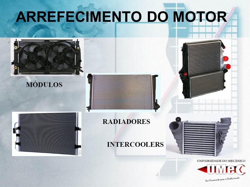 ARREFECIMENTO DO MOTOR MÓDULOS RADIADORES INTERCOOLERS