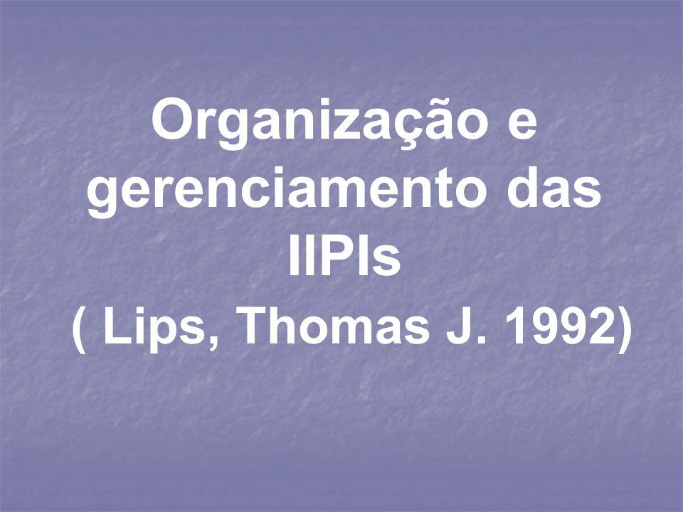 Organização e gerenciamento das IlPIs ( Lips, Thomas J. 1992)