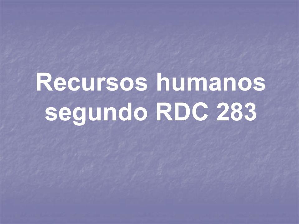 Recursos humanos segundo RDC 283