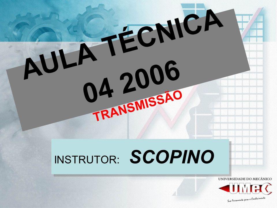 AULA TÉCNICA 04 2006 TRANSMISSÃO INSTRUTOR: SCOPINO