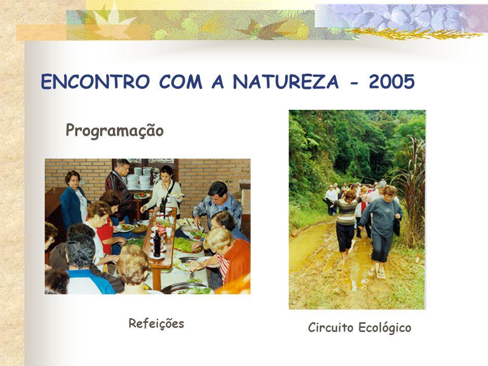 ENCONTRO COM A NATUREZA - 2005 Programação Refeições Circuito Ecológico