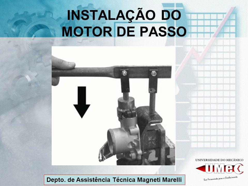 INSTALAÇÃO DO MOTOR DE PASSO Depto. de Assistência Técnica Magneti Marelli