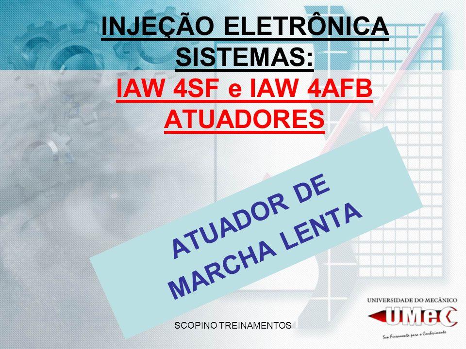 SCOPINO TREINAMENTOS INJEÇÃO ELETRÔNICA SISTEMAS: IAW 4SF e IAW 4AFB ATUADORES ATUADOR DE MARCHA LENTA