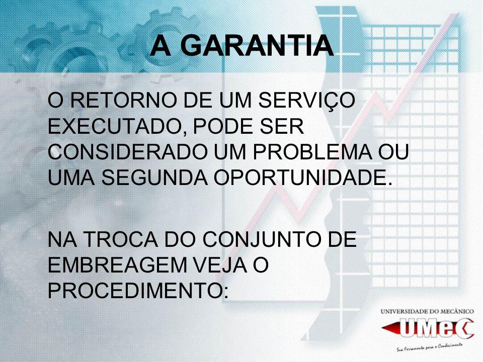 A GARANTIA O RETORNO DE UM SERVIÇO EXECUTADO, PODE SER CONSIDERADO UM PROBLEMA OU UMA SEGUNDA OPORTUNIDADE.
