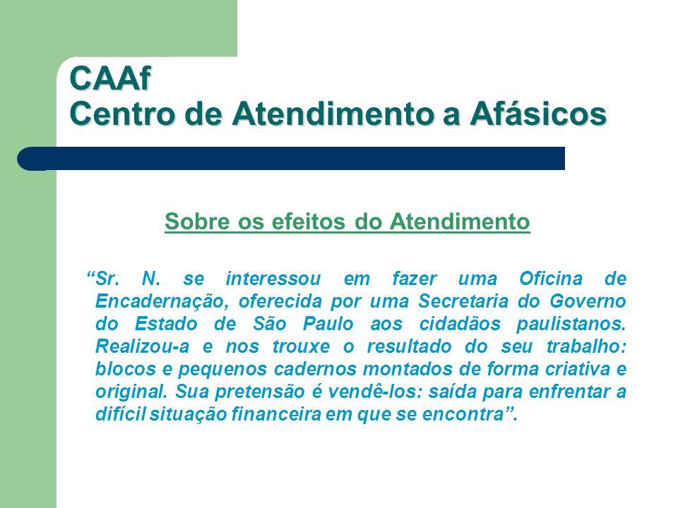 Sobre os efeitos do Atendimento Sr. N. se interessou em fazer uma Oficina de Encadernação, oferecida por uma Secretaria do Governo do Estado de São Pa