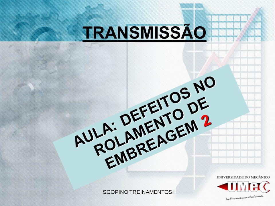 SCOPINO TREINAMENTOS TRANSMISSÃO AULA: DEFEITOS NO ROLAMENTO DE EMBREAGEM 2