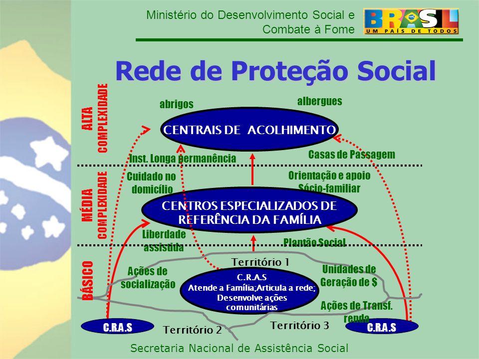 Ministério do Desenvolvimento Social e Combate à Fome Secretaria Nacional de Assistência Social Rede de Proteção Social MÉDIA COMPLEXIDADE Cuidado no