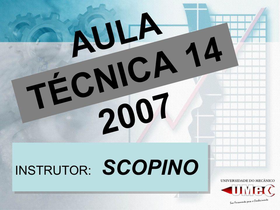 AULA TÉCNICA 14 2007 INSTRUTOR: SCOPINO
