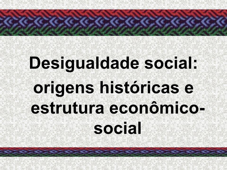 Desigualdade social: origens históricas e estrutura econômico- social