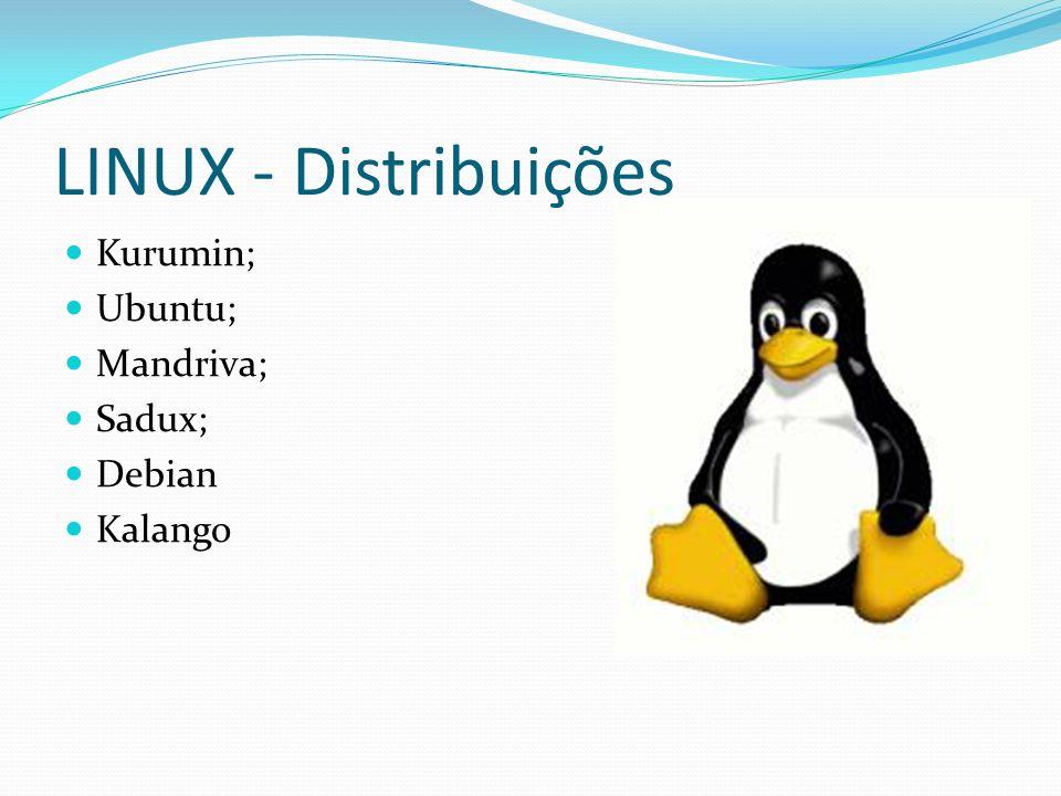 LINUX - Distribuições Kurumin; Ubuntu; Mandriva; Sadux; Debian Kalango
