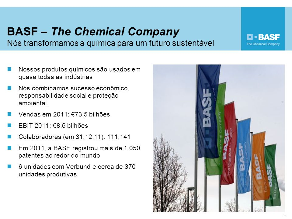 Nossos produtos químicos são usados em quase todas as indústrias Nós combinamos sucesso econômico, responsabilidade social e proteção ambiental. Venda