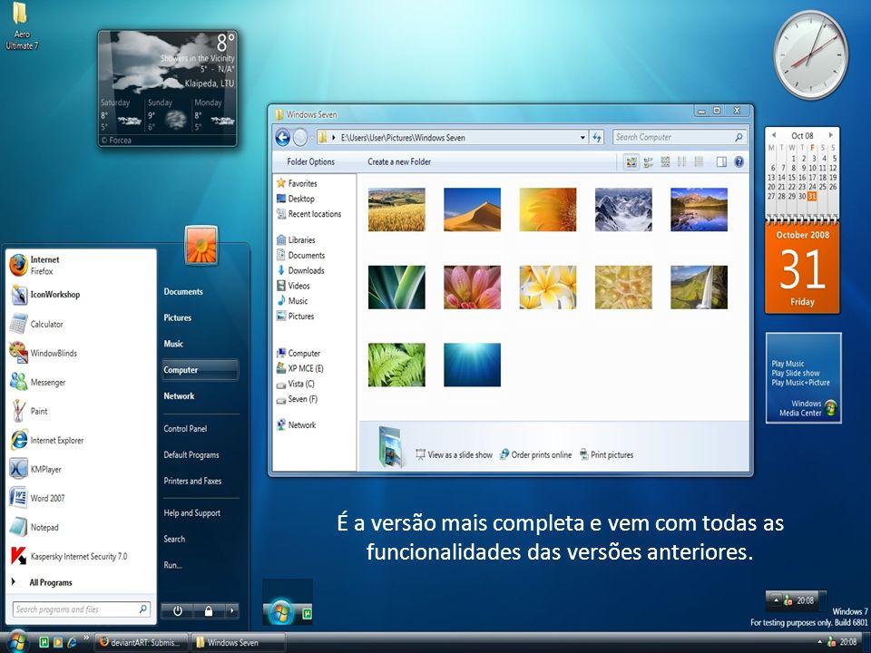 É a versão mais completa e vem com todas as funcionalidades das versões anteriores.
