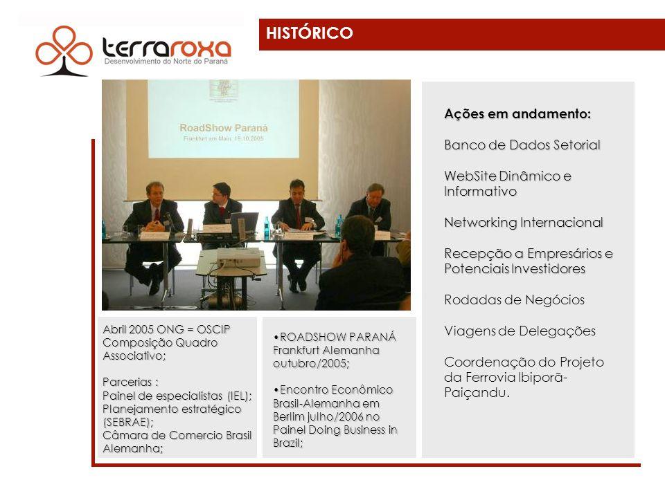 HISTÓRICO Abril 2005 ONG = OSCIP Composição Quadro Associativo; Parcerias : Painel de especialistas (IEL); Planejamento estratégico (SEBRAE); Câmara d